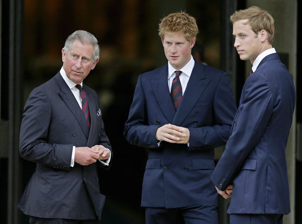 HRH Prince of Wales HRH Prince William HRH Prince Harry Affair